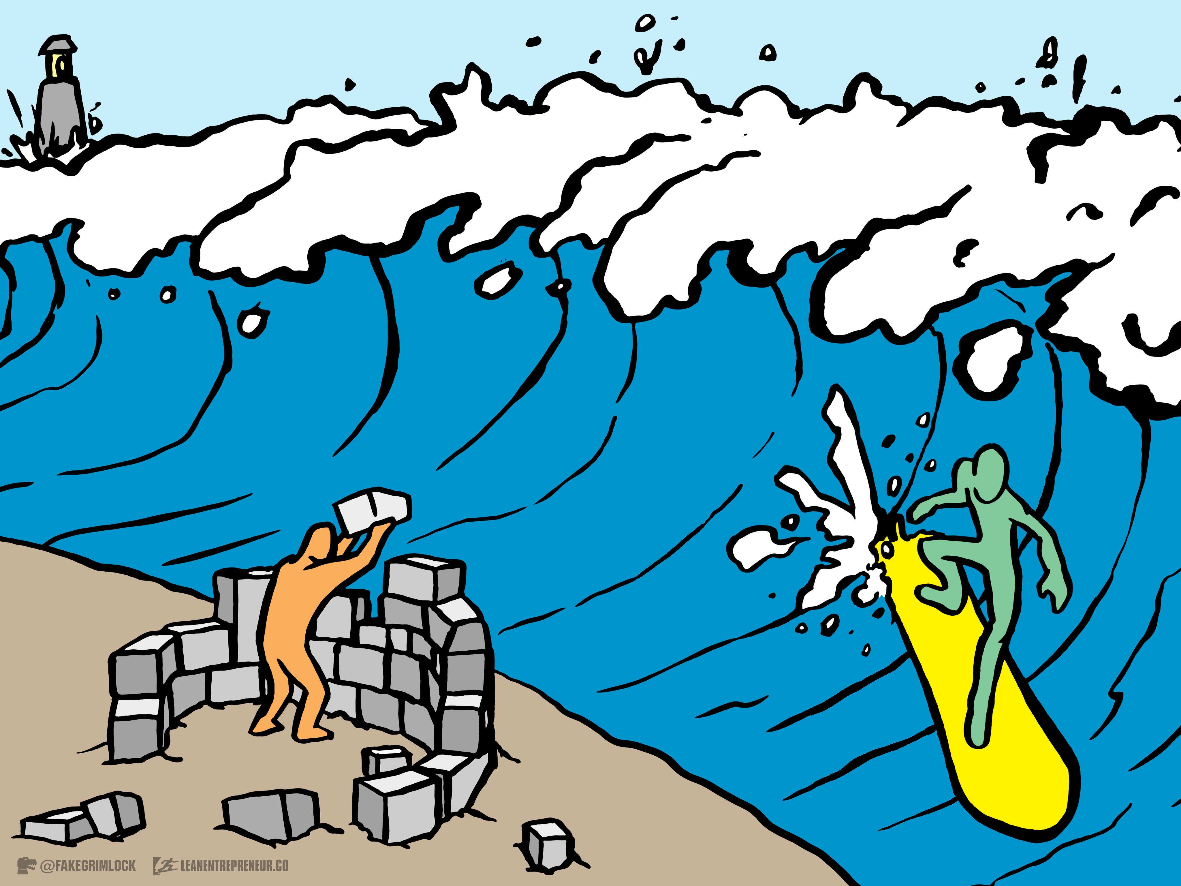 Surf The Wave from The LeanEntrepreneur.co